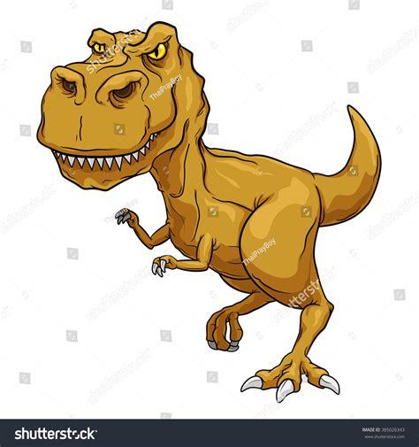 Tyrannosaurus Rex Trex Primitive Carnivore Dinosaur Stock