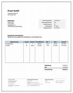 Rechnung Fußzeile : musterrechnung kostenloser download mit anleitung zervant ~ Themetempest.com Abrechnung