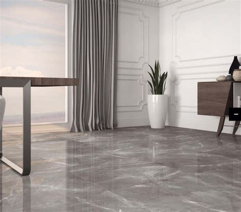 Polished Porcelain Tiles by Marmy Grey Polished Porcelain Tiles From Tile Mountain