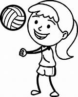 Volleyball Coloring Pages Drawing Printable Playing Daisy Players Sports Pass Bump Clipartmag Getdrawings Getcolorings sketch template