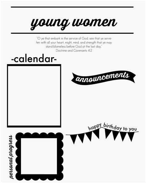 larissa  day young womens monthly newsletter template