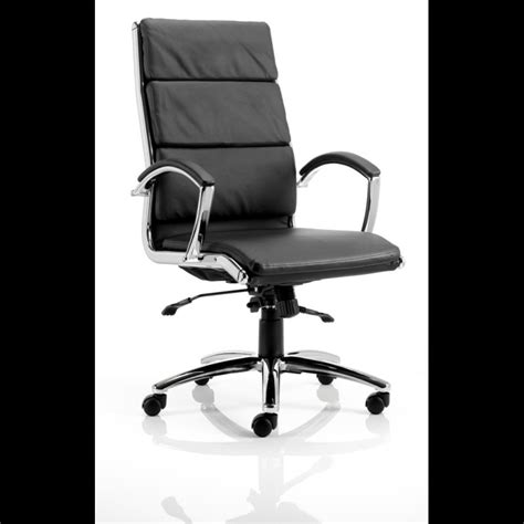 ultimate ergonomic leather executive office chair black