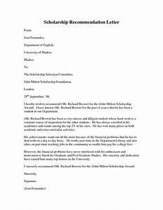 Remendation Letter For Scholarship  bbqgrillrecipes
