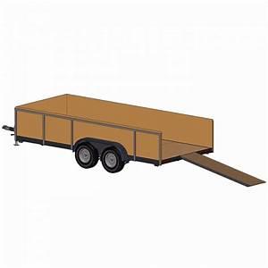 Tandem Axle Trailer Plans  U2013 6 U0026 39 10 U0026quot  X 16 U0026 39  Deck  U2013 7000