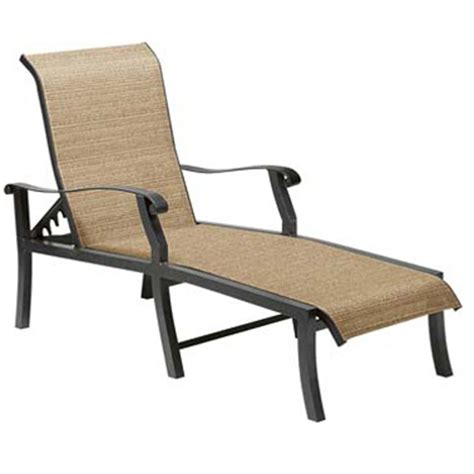 cortland sling adjustable chaise lounge by woodard patio