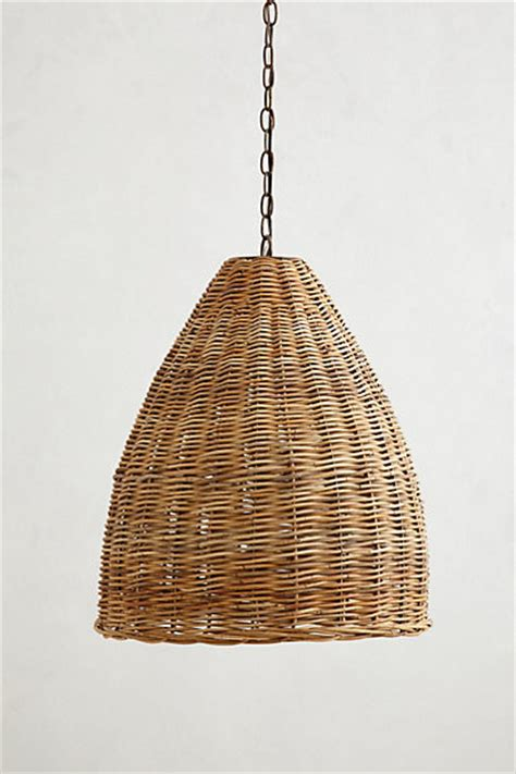 basket weave pendant l farmhouse pendant lighting by anthropologie