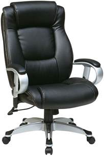 ech52666 ec3 office executive black eco leather chair with height adjustable arms