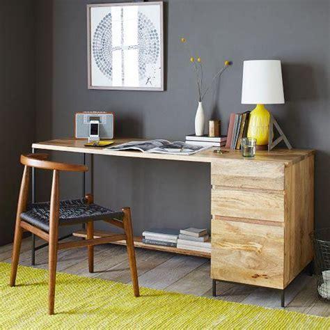 west elm industrial desk rustic storage modular desk set box file west elm