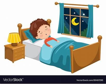 Sleeping Kid Clipart Vector Illustration Vectorstock Bedroom