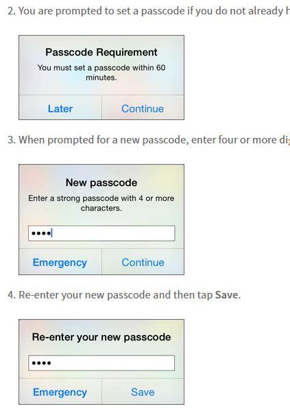 passcode requirement iphone passcode requirement iphone iphone is the message quot Passc