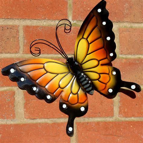 Butterflies Garden Decoration Multi Coloured Metal Outdoor