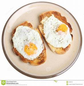Fried Eggs On Toast Stock Image - Image: 15506741