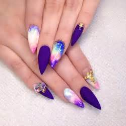 Stiletto nail designs art acrylic nails
