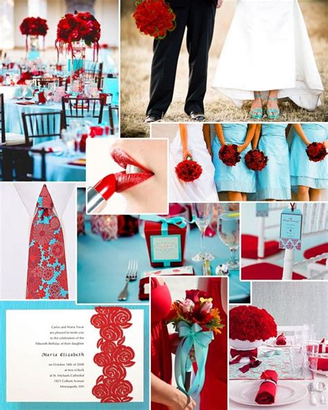 wedding color schemes red and turquoise wedding wedding flowers wedding decor retro wedding shop wedding flowers