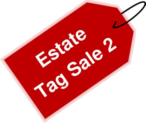 clipart estate estate tag sale 2 clip at clker vector clip