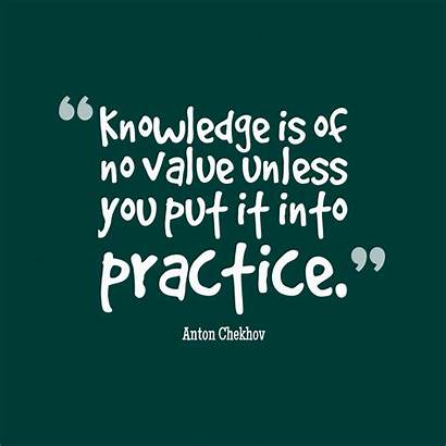 Knowledge Value Anton Quotes Practice Others