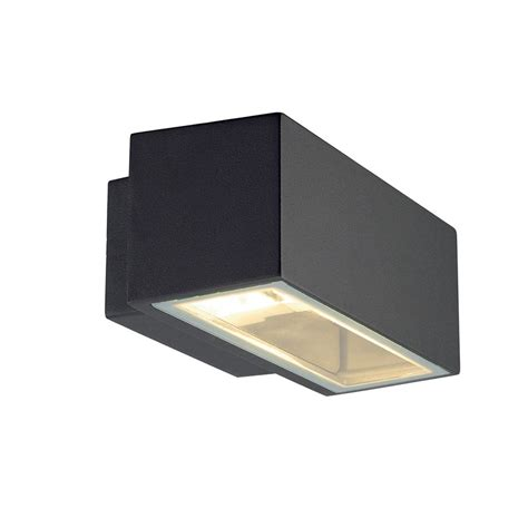 modern box outdoor wall light with up light distribution