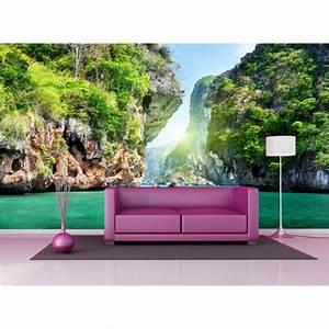 Papier Peint Geant : papier peint g ant d co les calanques 250x360cm art d co ~ Premium-room.com Idées de Décoration