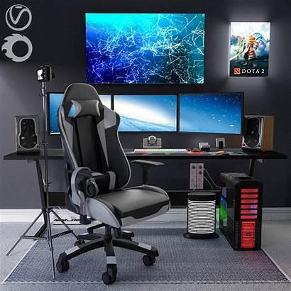 Gaming Models Interior Office Cgtrader Jc