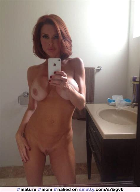 mature mom naked shaved pussy redhead sexy hot selfie