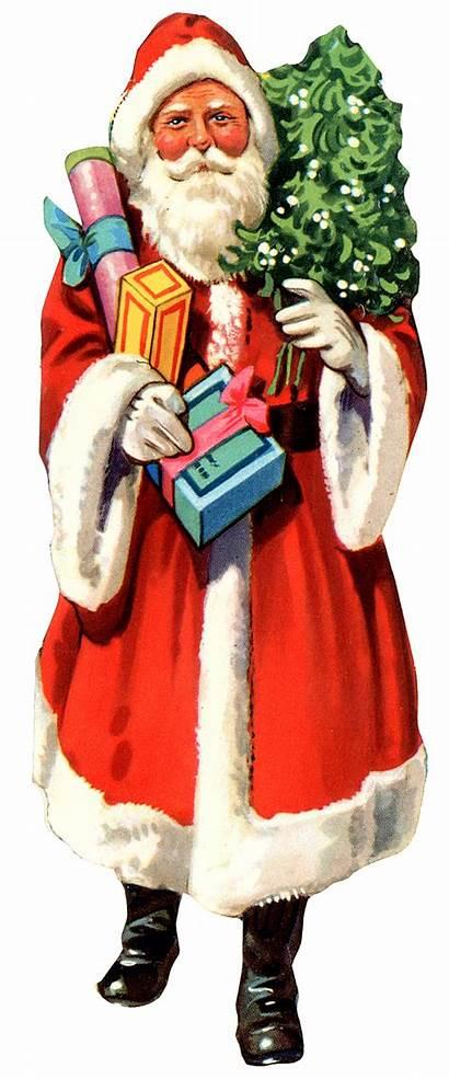 Santa Christmas Claus Clipart Father Tree Xmas
