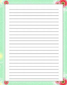 printable letter writing paper with lines free printable With best letter writing paper