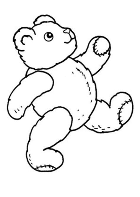 ausmalbilder laufender teddy spielsachen malvorlagen