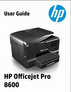 Hp Officejet Pro 8600 User Manual
