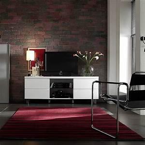 Lowboard Mit Schubladen : lowboard tucker mit 4 schubladen in hochglanz lack wei ~ Watch28wear.com Haus und Dekorationen