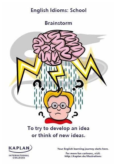 Brainstorm Idioms English Vocabulary Language Phrases Idiom