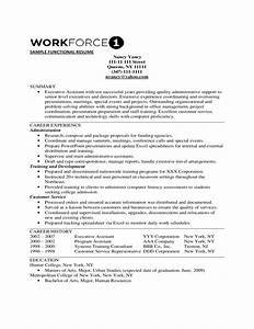 simple functional resume template free download With functional resume outline