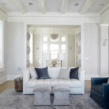 living room gray walls  white crown moulding design ideas