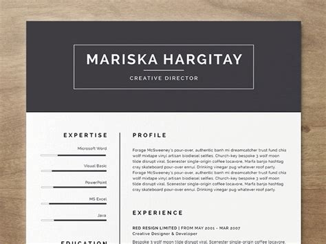 resume template word free 20 beautiful free resume templates for designers