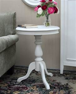 Home furniture round side table vintage wood pedestal for Round pedestal coffee table antique