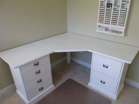 see through makeup desk here is the corner desk my dh built for me for christmas