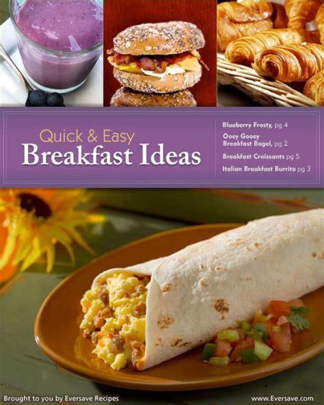 easy breakfast ideas quick easy breakfast ideas trusper
