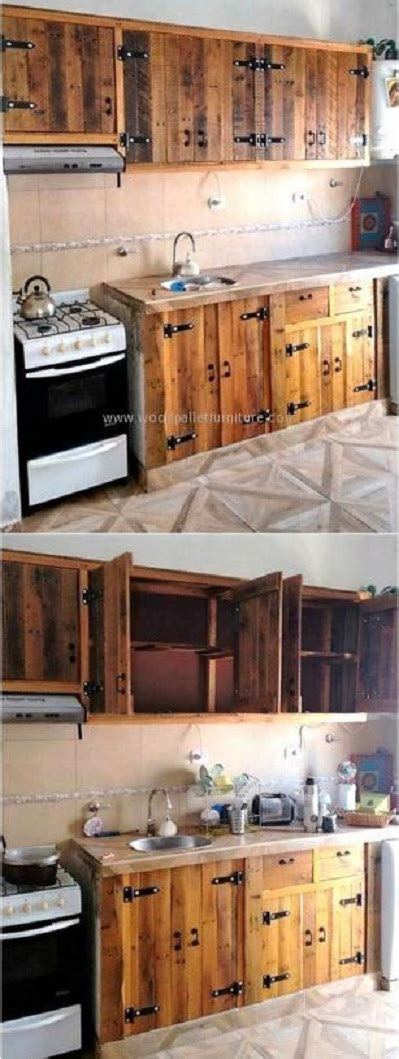 muebles de cocina disenos modernos de madera colgantes