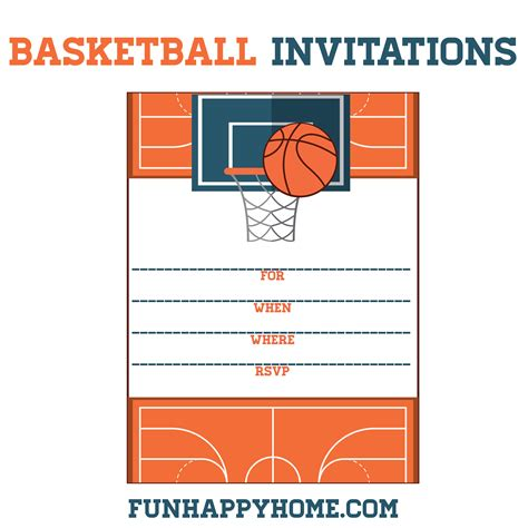 ticket template gameday free printable basketball themed party invitations fun