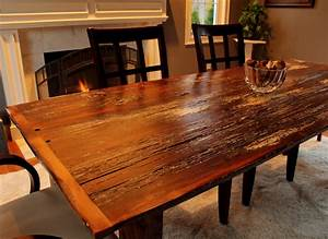 Reclaimed barn board farm table for Barn board dining room tables