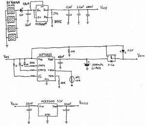 U0026gt  Circuits  U0026gt  Mcp1640 5v Step Up From 4v Solar Cells L47604