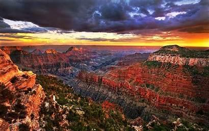 Canyon Grand Desktop Wallpapers Sunrise Cave