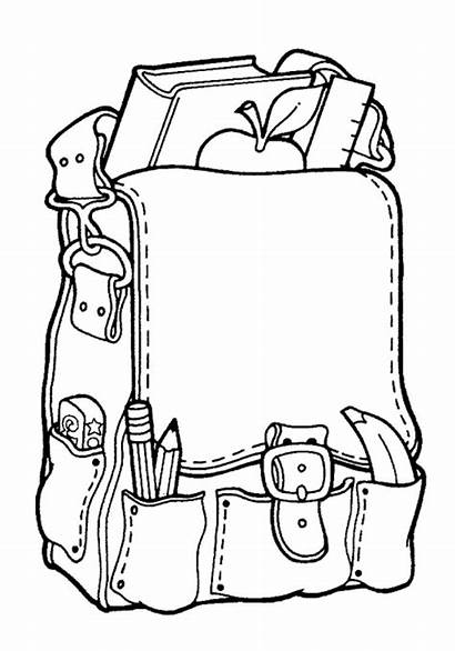 Coloring Pages Welcome Stuff Backpack Bag Supplies