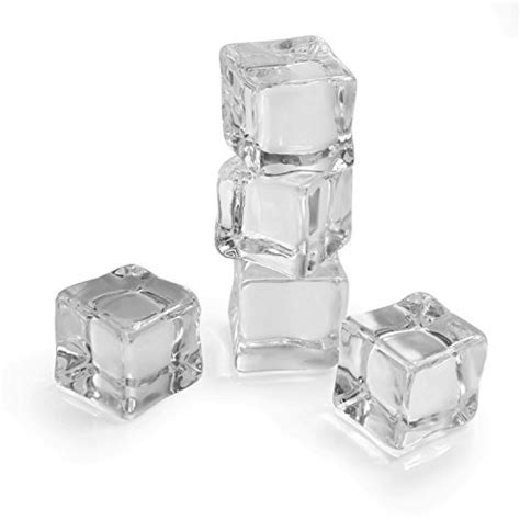 Landisun 24 Counts/Pack Fake Artificial Acrylic Ice Cubes