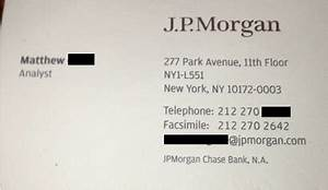 Bizcardz your source for business cards page 27 for Jp morgan business card