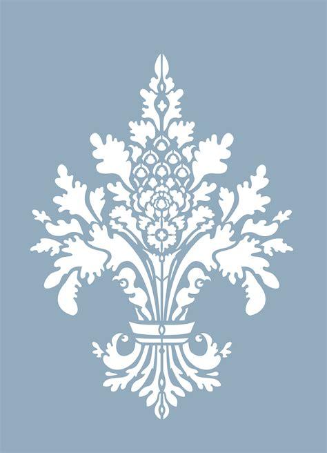damask fleur de lys stencil henny donovan motif