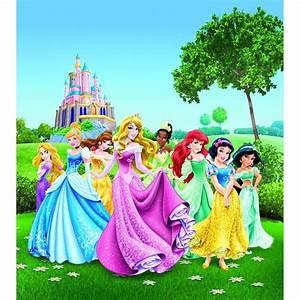 Papier peint xl château au printemps princesse disney 180x202 cm multicolor Walltastic La Redoute