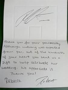 Sample thank you letter for wedding gift money 1000 for Wedding gift thank you notes