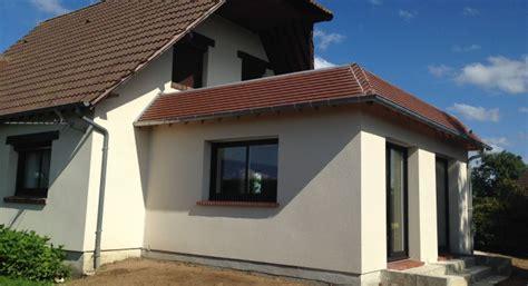 agrandissement cuisine sur terrasse extension maison bois toit plat extension en bois sur