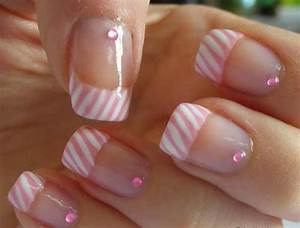 Pink French Manicure- Pink and White, Tips Nails, Light ...