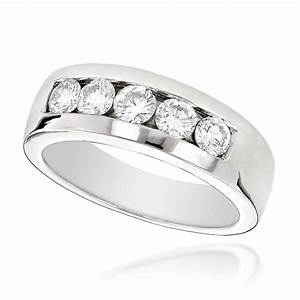 18k gold men39s diamond wedding ring 1ct With mens wedding diamond rings
